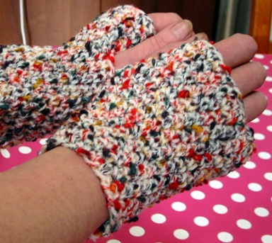 Unisex Fingerless Mitts Crochet Pattern