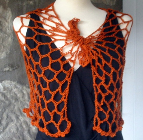 Trellis Ladder Yarn Crochet Necklace PATTERN by seashellcrafter